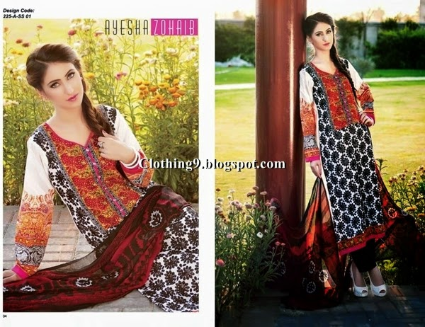 Top Quality Designer Replica Men Clothing Ayesha Zohaib Lawn Collection