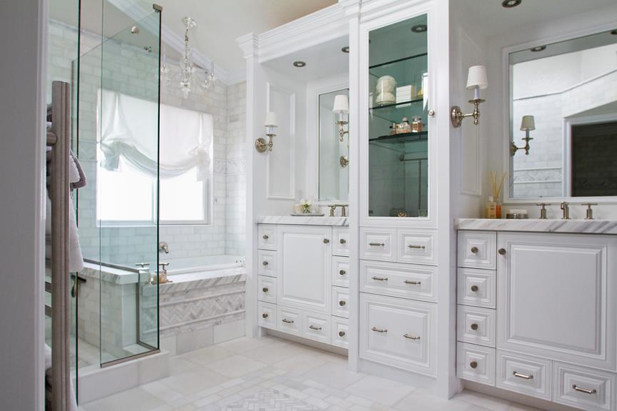 Classic White Bathroom White Marble