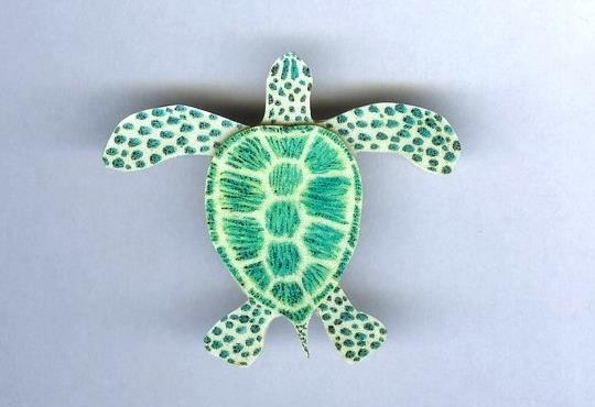 Sea Turtle Brooch