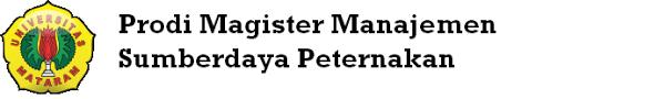 Program Studi Magister Manajemen Sumberdaya Peternakan