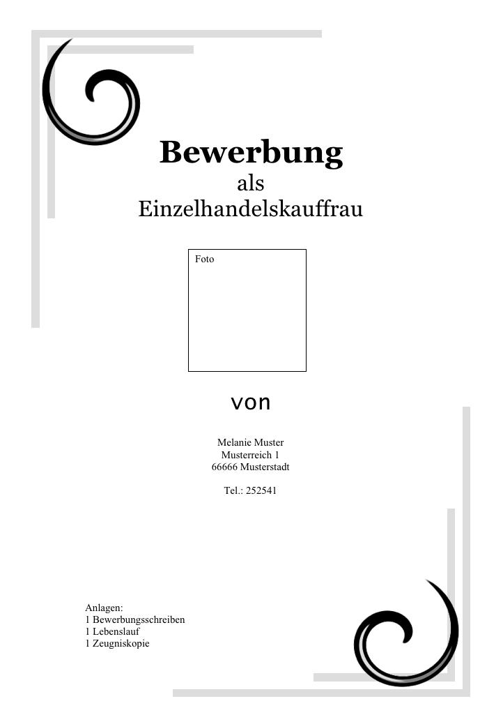 Startklar für Praktikum und Beruf: Das Deckblatt