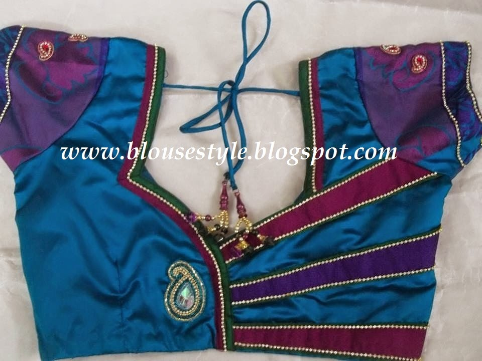 different style stitching blouse