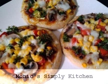 Resep pizza mini oatmeal dengan sayuran
