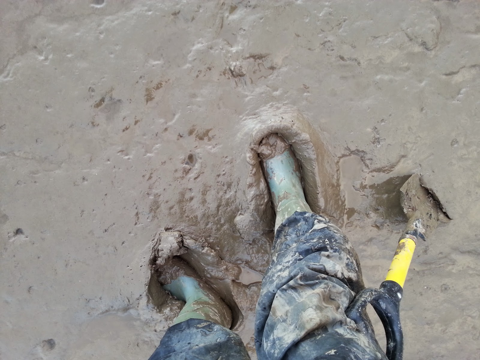mud while metal detecting