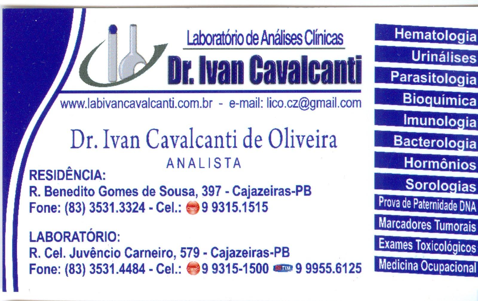 LABORATÓRIO  DE ANÁLISES CLÍNICAS  DR  IVAN  CAVALCANTI