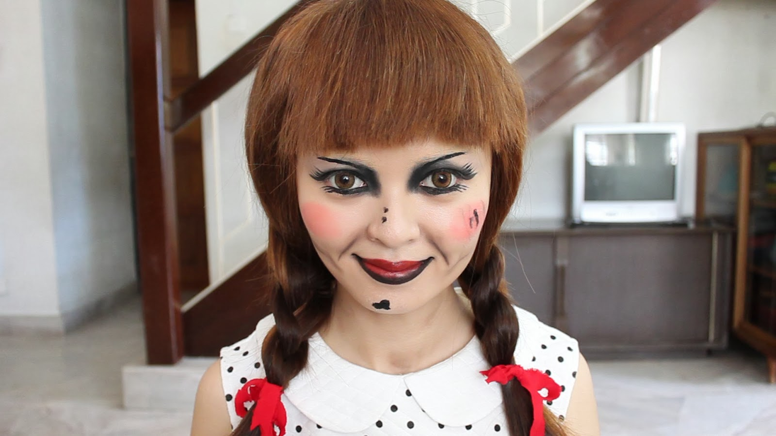 The Conjuring: Annabelle Doll Makeup Tutorial : Lynette Tee : Makeup ...