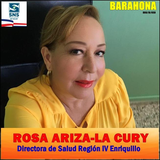 DR. ROSA ARIZA/LA CURY, Directora Región IV de Salud Enriquillo