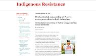 Indigenous Resistance