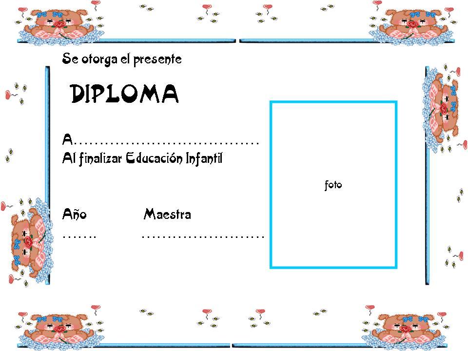 Modelos De Diplomas Para Imprimir