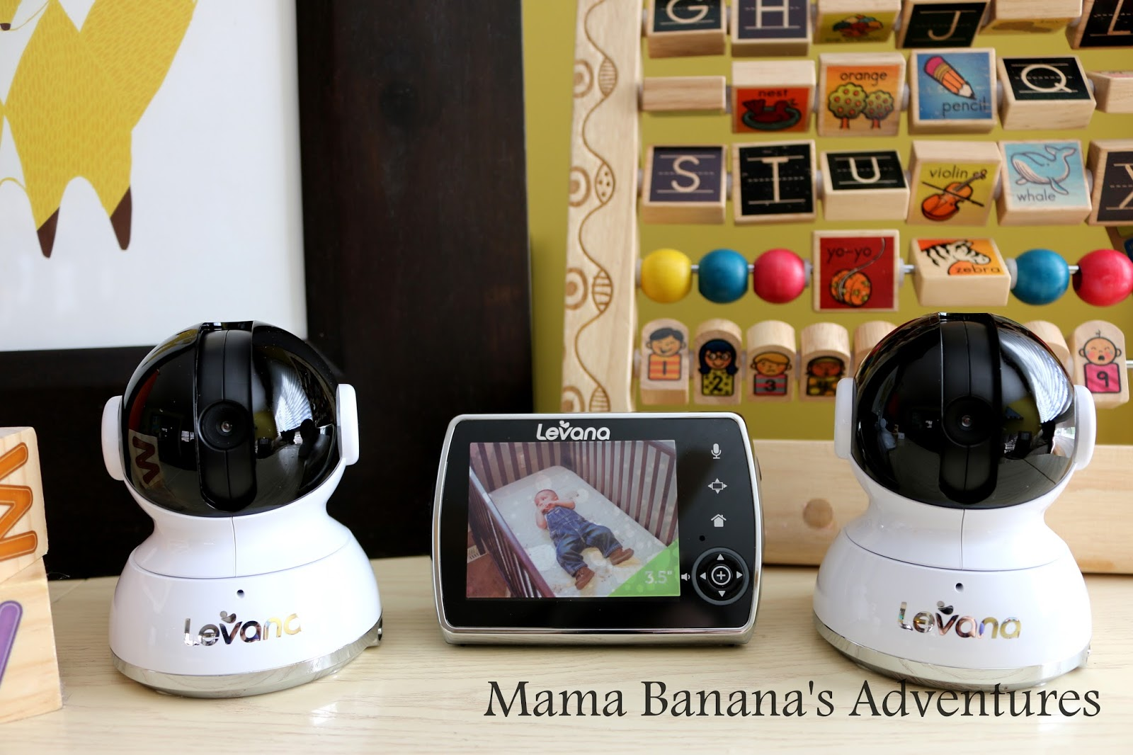 levana keera ptz baby video monitor with 2 cameras review mama banana 39 s adventures. Black Bedroom Furniture Sets. Home Design Ideas