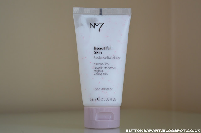 a picture of no7 beautiful skin radiance exfoliator