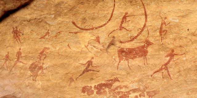 El hombre, la pintura rupestre y la naturaleza