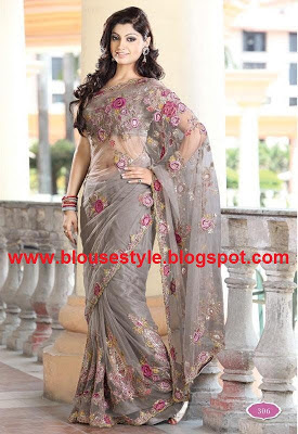 GRAY COLOR SAREE
