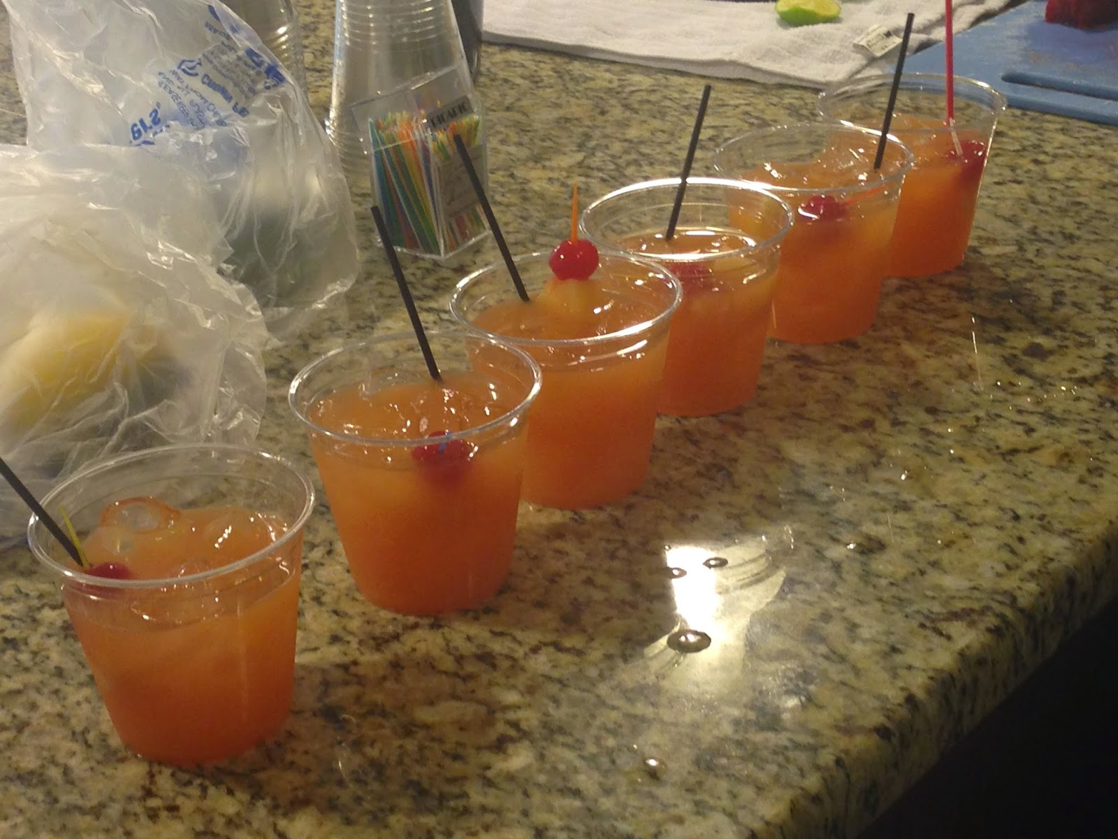 group of mixed drinks