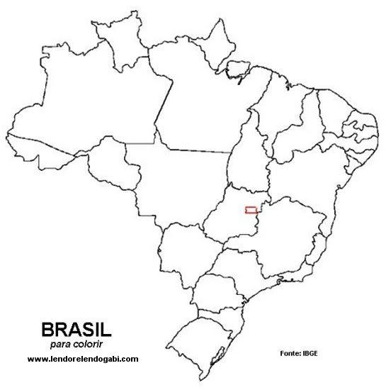 Mapas do Brasil para Imprimir e Colorir  Mundinho da Criana