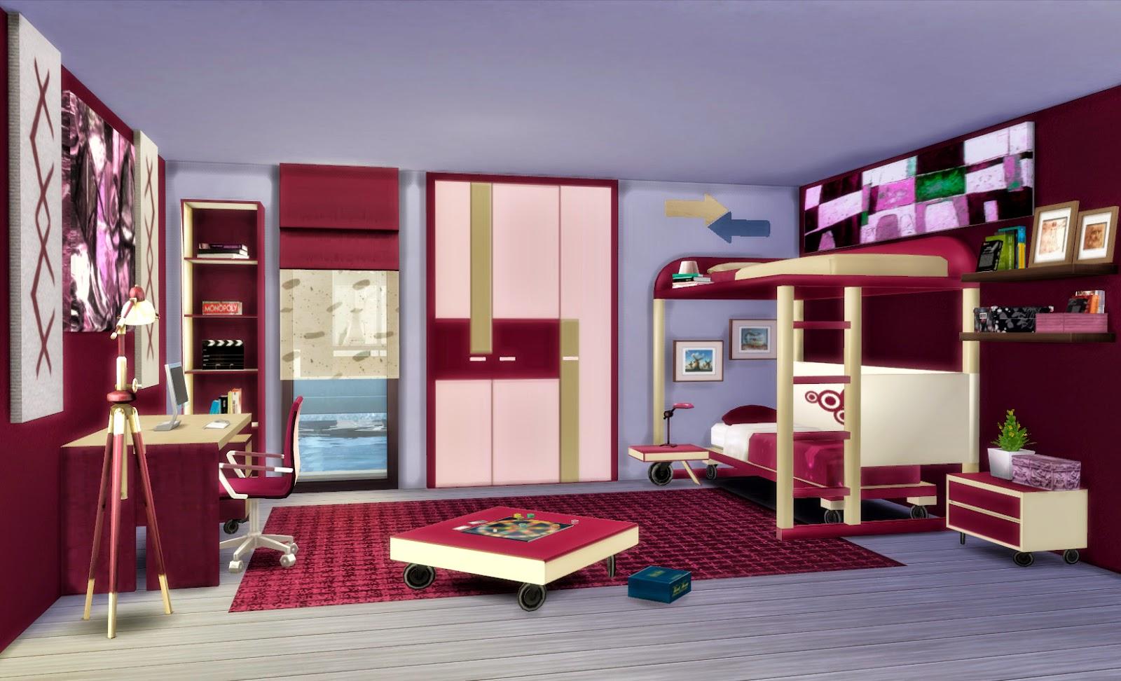 Sims 4 dormitorio ivan for Cuartos para ninos sims 4