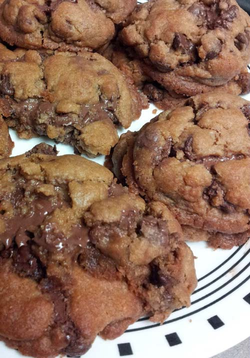 Make it gooey! Nutella and chocolate chips in a cookie.