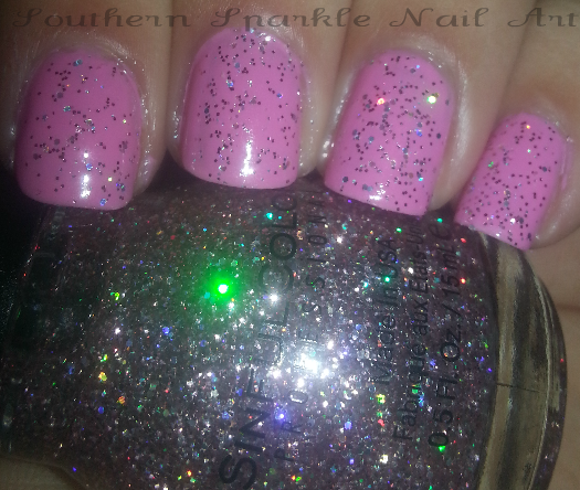 Sinful Cotton Candy Nail Polish: Southern Sparkle Nail Art: Sinful Colors Show Stopping