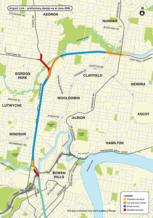 Road Pricing New Brisbane Airport Link toll road may include