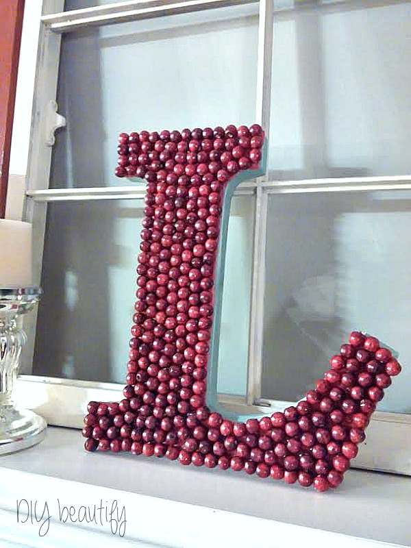 Easy DIY Berry Monogram at www.diybeautify.com