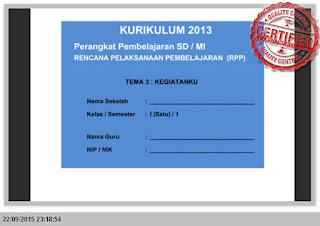 [SEMUA TEMA] PERANGKAT PEMBELAJARAN KURIKULUM 2013 KELAS 1 SD SEMSTER 1 dan 2 LENGKAP
