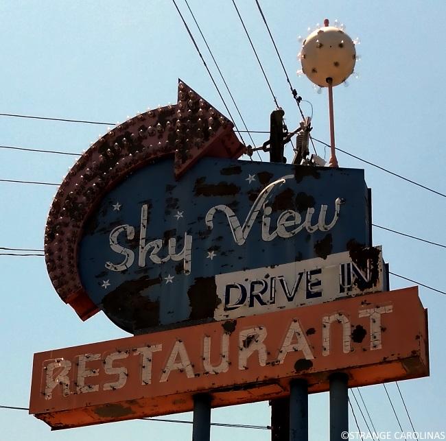 Sky View Drive In Restaurant Sign Florence Sc Strange Carolinas