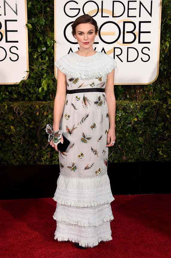 Keira Knightley in Chanel at the Golden Globes