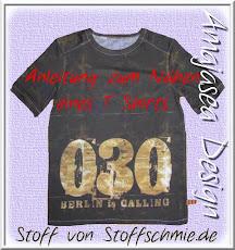 Anleitung zum Nähen eines (Jungen und Herren) T- Shirts