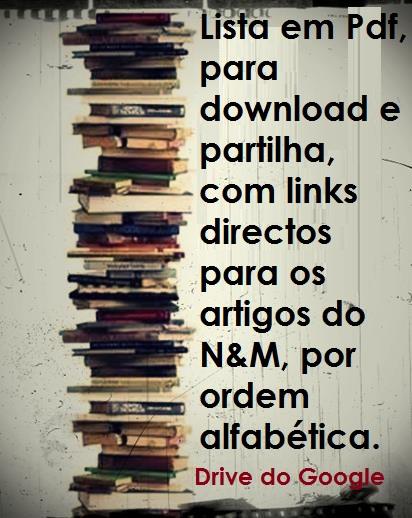 ARTIGOS POR ORDEM ALFABÉTICA
