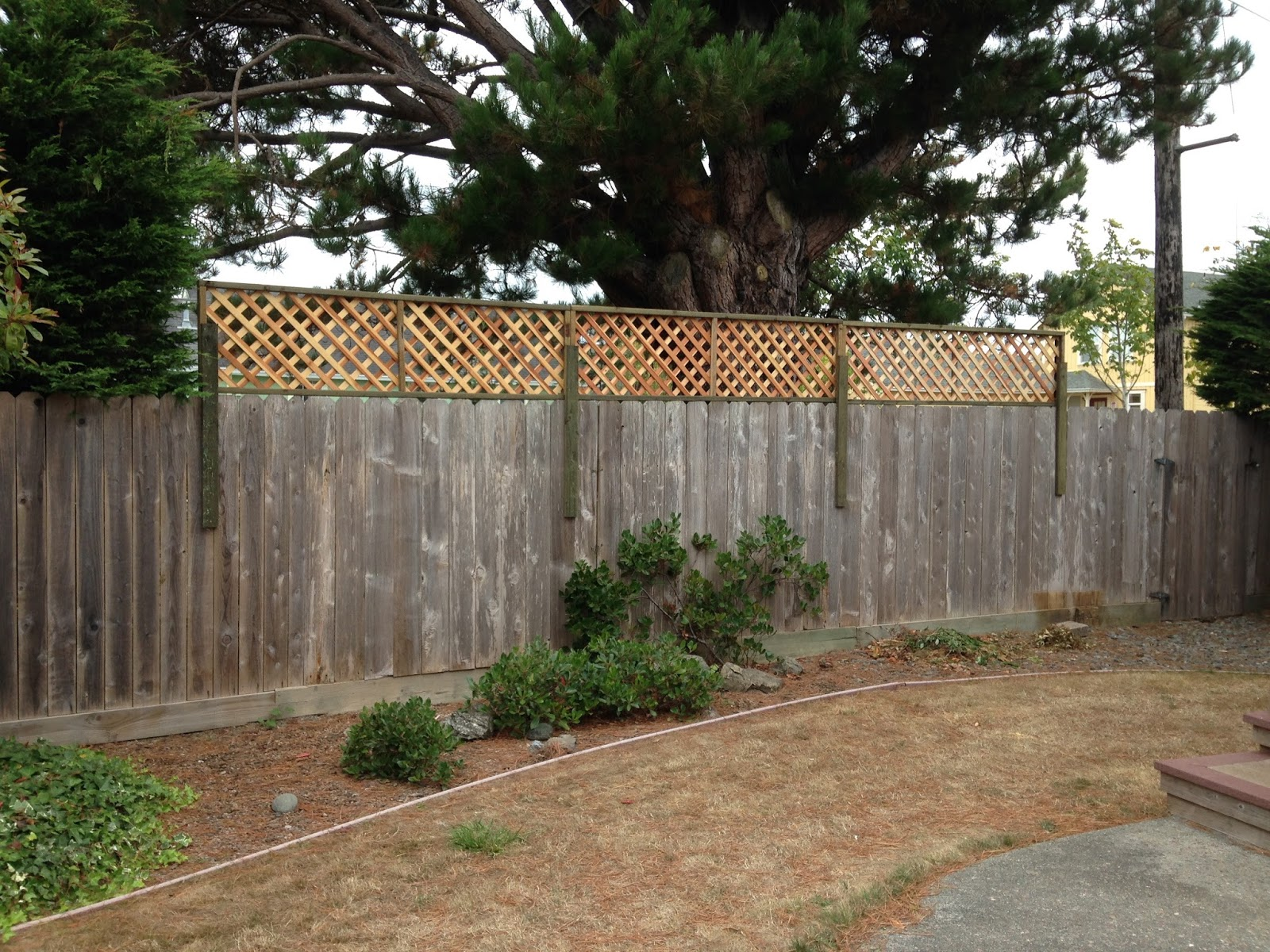 how to build a fence multi height
