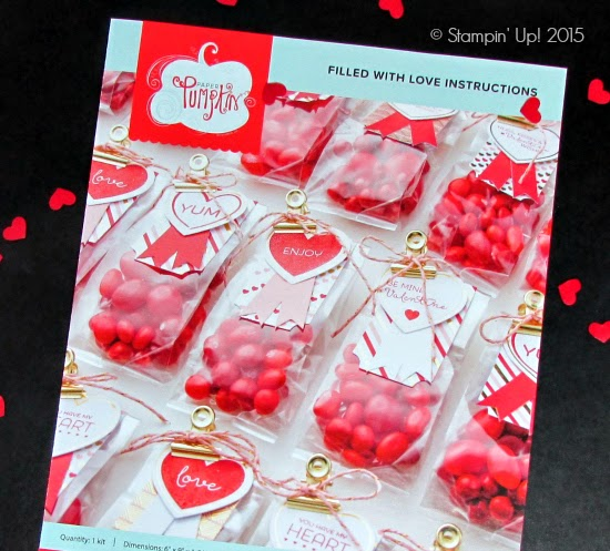 Paper Pumpkin January Kit: Filled with Love (Valentine Treat Bags) #valentines #paperpumpkin #stampinup #papercrafts