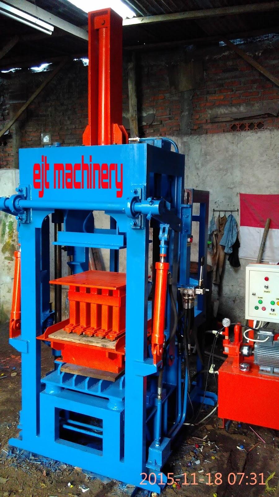 jual mesin press paving    batako hidrolik semi otomatis