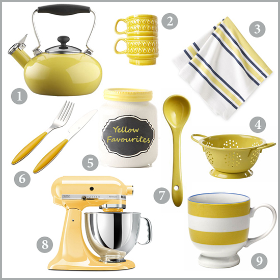 Chocolate Shavings: Yellow Kitchen Accessories