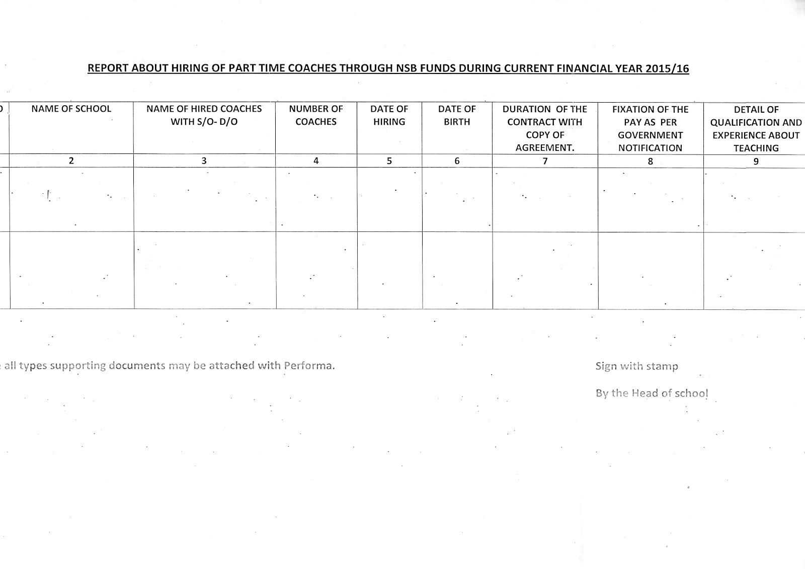 Provision of PTC's from NSB funds for the session 2015-16 ...