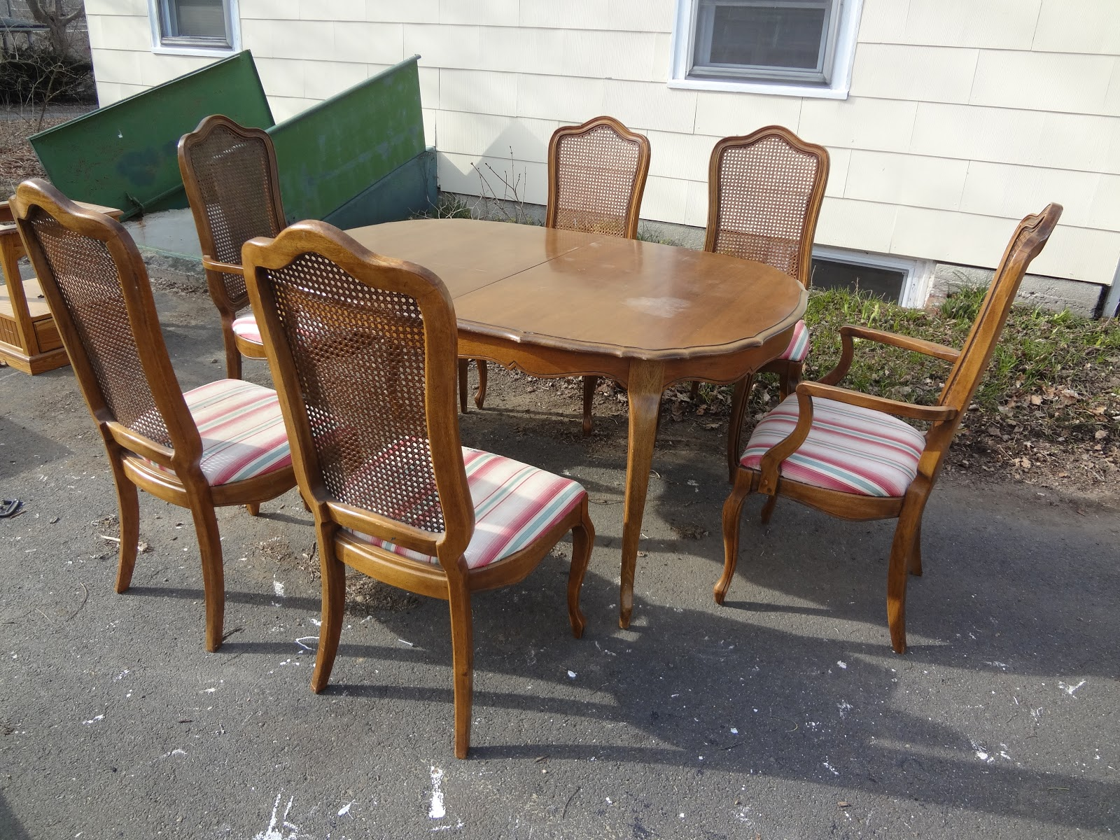 New Acquisitions: A Fruitwood Thomasville Dining Set