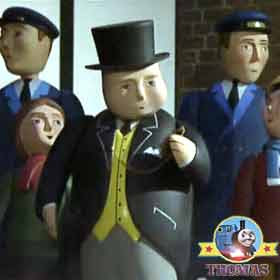 It is behind schedule and late Sir Topham Hatt the world's strongest engine Gordon the tank engine