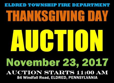 11-23 Eldred Township VFD Merchandise Auction