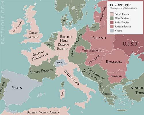 Alternate History Weekly Update: Map Monday: Europe, If Britain Had ...