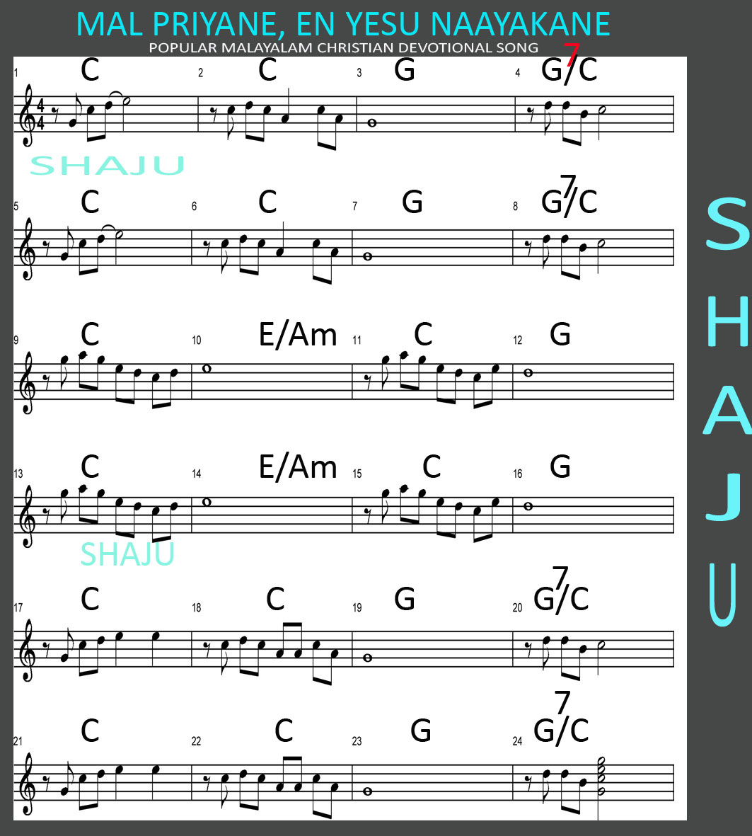 keyboard chords for hindi christian songs pdf