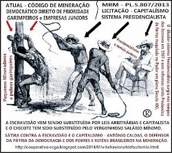 Sátira contra o novo MRM e regime capitalista que lesa a lei atual e os pobres na mineração.