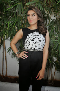 Hansika Motwani Latest Pictures in Black Jumpsuit at Maga Maharaju Audio Launch ~ Bollywood and South Indian Cinema Actress Exclusive Picture Galleries