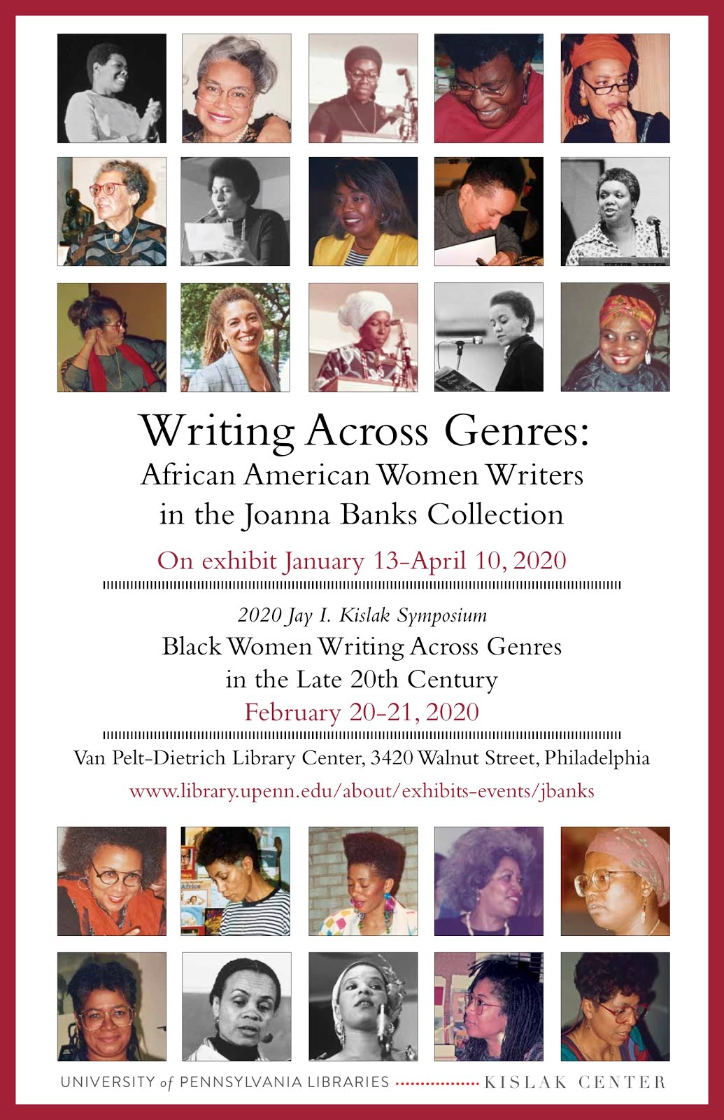 Feb. 20-21, 2020 -Black Women Writing Across Genres in the Late 20th Century