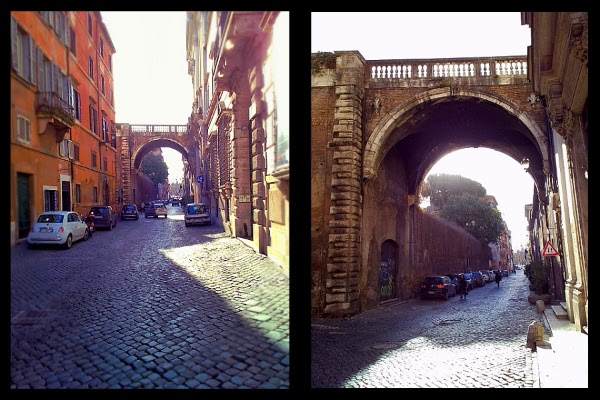 Arco del Passetto Farnese na via Giulia