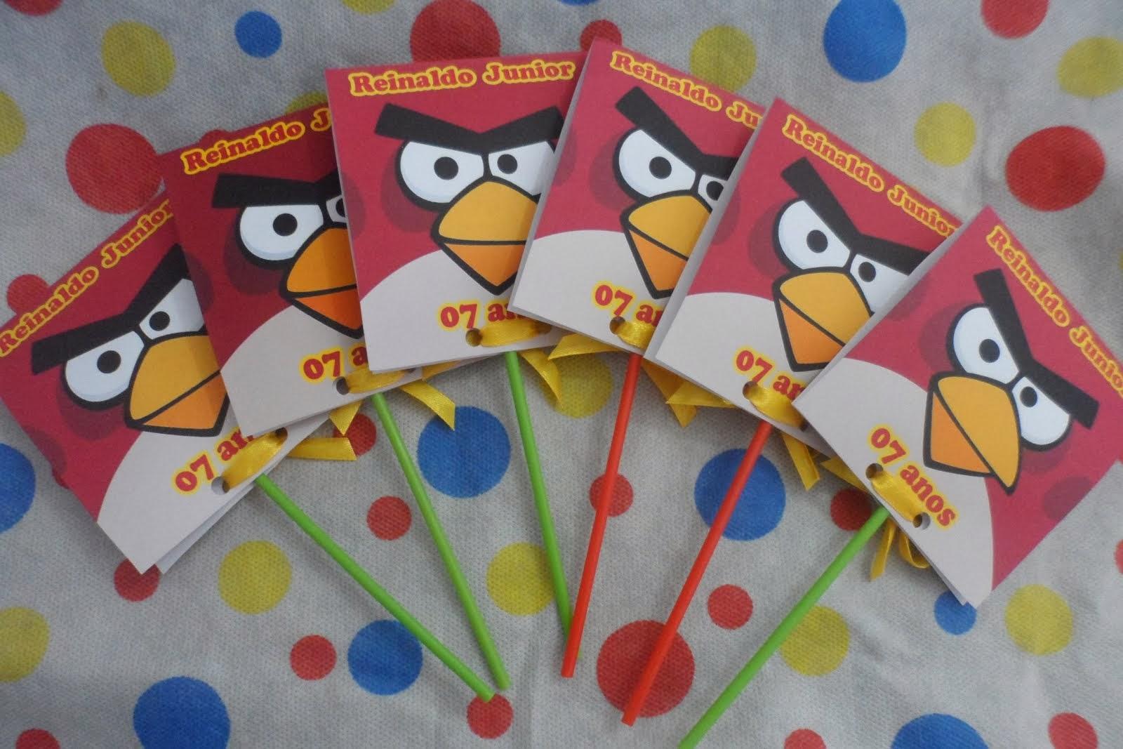Convite Pirulito Angry Birds