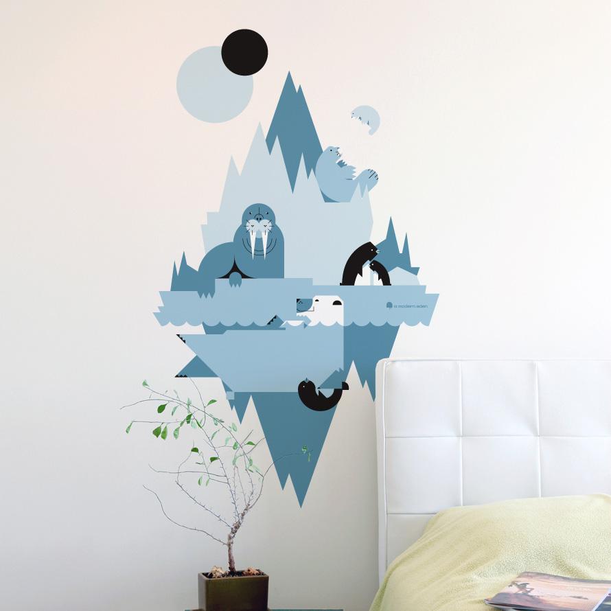 Decal8 designer interior wall stickers a modern eden wall decals from blik - Blik wall stickers ...