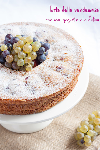 torta della vendemmia uva, olio, yogurt