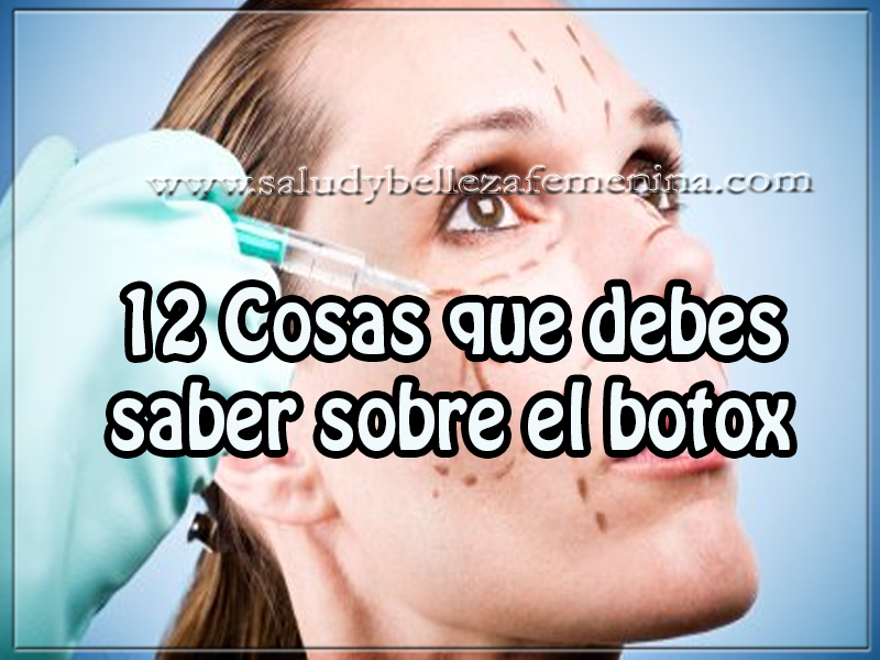 Salud y bienestar , belleza , 12 cosas que debes saber sobre el botox