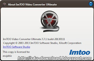 ImTOO Video Converter Ultimate 7.7.1.20130111