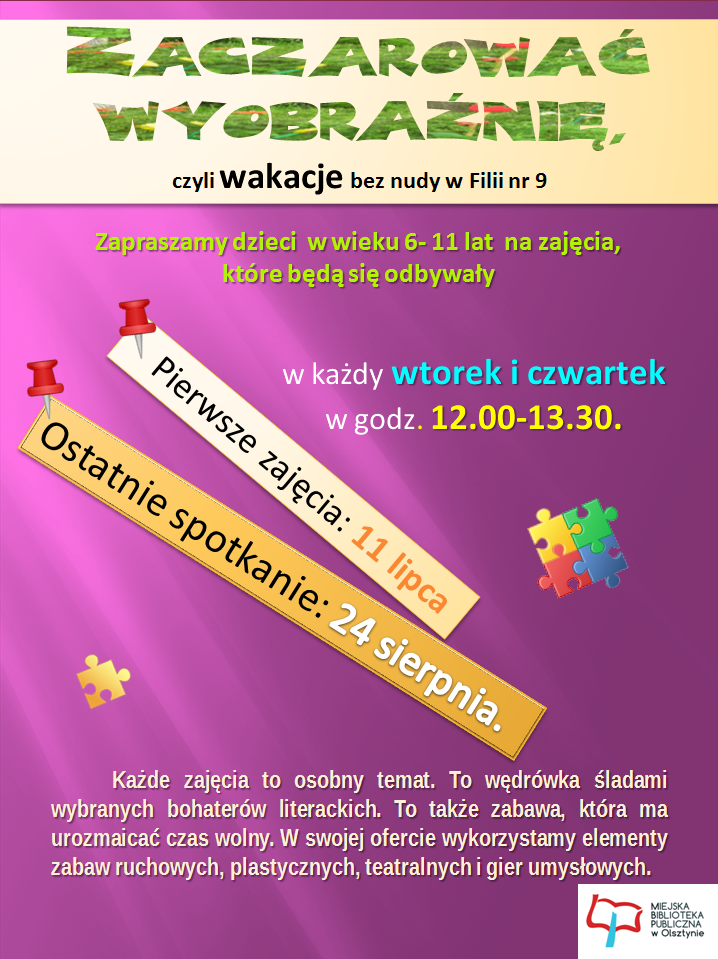 Wakacje w BIBLIOTECE