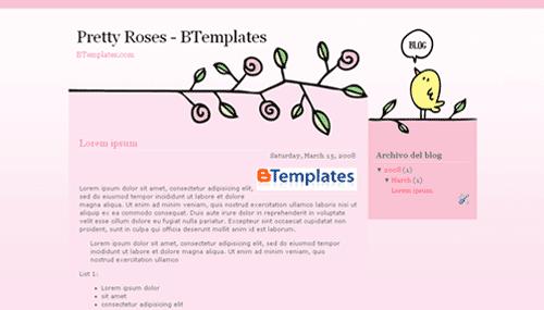 plantilla gratis pretty roses
